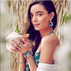 Jewelry - 💎 Vintage Crystal Blue Opal Statement Earrings